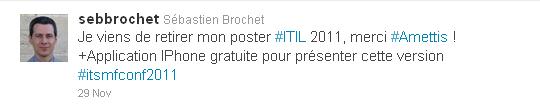 Twitter Poster ITIL